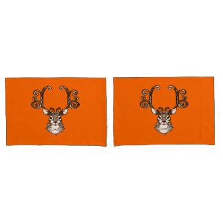 かわいいトナカイのシカのコテッジの枕箱のオレンジ 枕カバー
