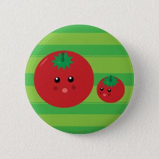 かわいいトマト 5.7CM 丸型バッジ