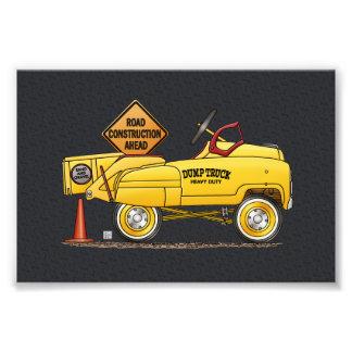 かわいいトラックを売り歩きます車を売り歩いて下さい フォトプリント