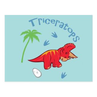かわいいトリケラトプス ポストカード