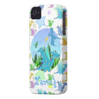 かわいいドラゴンパターンカスタマイズ可能な一流のハナ Case-Mate iPhone 4 ケース