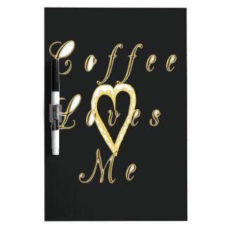 かわいいニースそして美しいコーヒーは私を愛します ホワイトボード