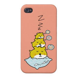 かわいいハムスターの睡眠時間 iPhone 4/4Sケース