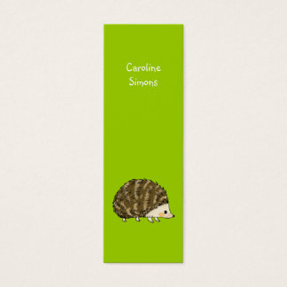 かわいいハリネズミのしおり スキニー名刺