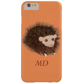 かわいいハリネズミのiPhoneのケースは名前を加えます スキニー iPhone 6 Plus ケース