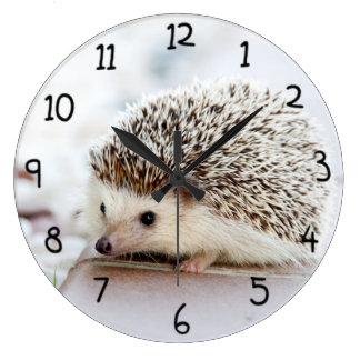 かわいいハリネズミ ラージ壁時計