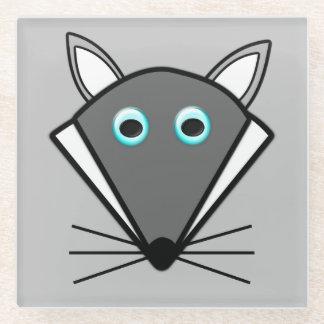 かわいいハロウィンのオオカミガラスのコースター ガラスコースター