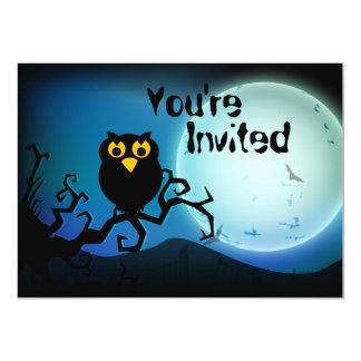 かわいいハロウィンのフクロウの誕生日の招待状 11.4 X 15.9 インビテーションカード
