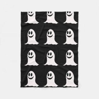 かわいいハロウィンの漫画の幽霊 フリースブランケット