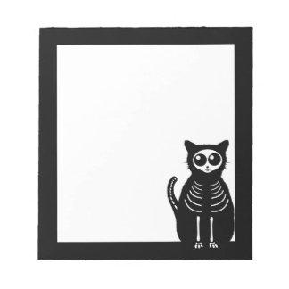 かわいいハロウィンの漫画猫の骨組 ノートパッド