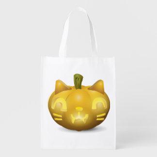 かわいいハロウィーンのカボチャのちょうちんのトリック・オア・トリートキャンデーのバッグ エコバッグ
