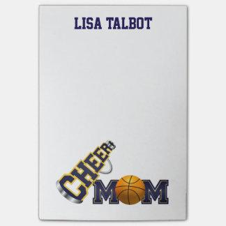 かわいいバスケットボールの応援のお母さんのポスト・イット ポストイット