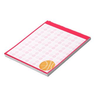 かわいいバスケットボール ノートパッド