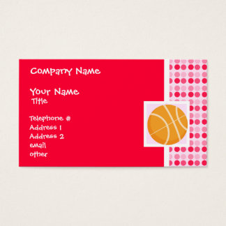 かわいいバスケットボール 名刺