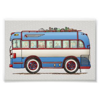かわいいバス観光バス フォトプリント