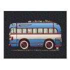 かわいいバス観光バス ポストカード