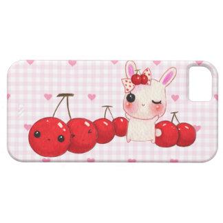 かわいいバニーおよびかわいいのさくらんぼ iPhone SE/5/5s ケース