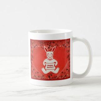 かわいいバニーのハッピーイースターのスケッチのイラストレーション コーヒーマグカップ