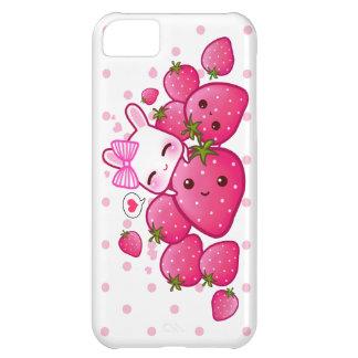 かわいいバニーはかわいいのいちごを愛します iPhone5Cケース