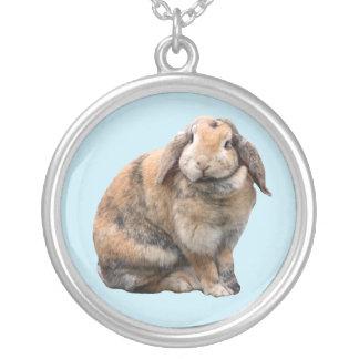 かわいいバニーウサギの取り除耳付つきのネックレス、ギフトのアイディア シルバープレートネックレス