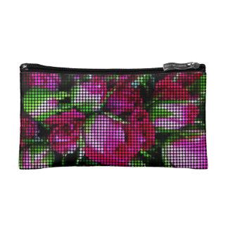 かわいいバラのつぼみの点のモザイク コスメティックバッグ