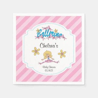 かわいいバレリーナのベビーシャワーのテーマ2 スタンダードカクテルナプキン