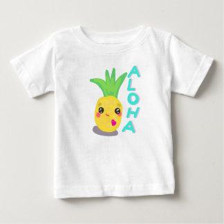 かわいいパイナップルはアロハ言います ベビーTシャツ