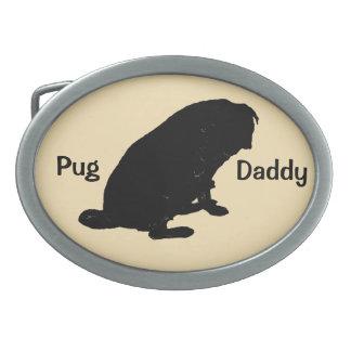 かわいいパグのお父さんのベルトの留め金 卵形バックル