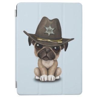 かわいいパグの小犬の保安官 iPad AIR カバー