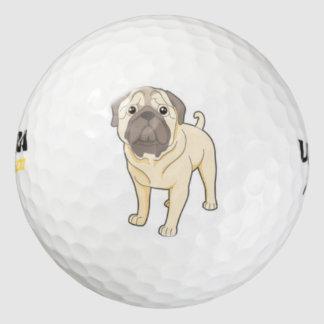 かわいいパグ犬のゴルフ・ボール ゴルフボール