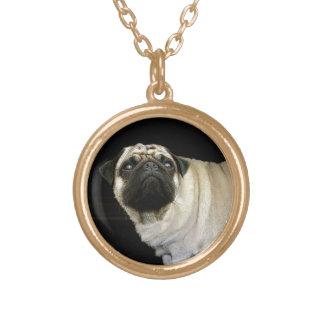 かわいいパグ犬のペット恋人の首の宝石類 ゴールドプレートネックレス