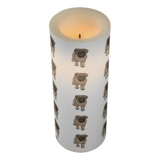 """かわいいパグLEDの蝋燭、3"""" x 8""""白のLEDの蝋燭 LEDキャンドル"""