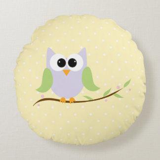 かわいいパステル調のフクロウの赤ん坊の部屋の枕 ラウンドクッション