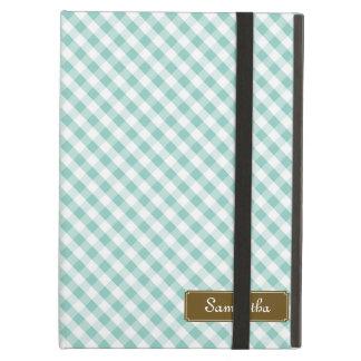 かわいいパステル調の真新しいギンガムパターン iPad AIRケース