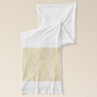 かわいいパステル調ピンクの桜パターン スカーフ
