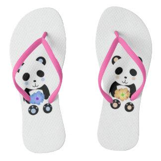 かわいいパンダのデザインのビーチサンダル ビーチサンダル