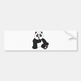 かわいいパンダのデザイン バンパーステッカー