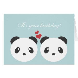 かわいいパンダのバースデー・カード カード
