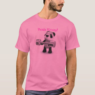 かわいいパンダの強い重量挙げ選手 Tシャツ