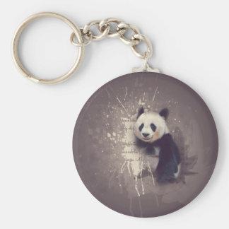 かわいいパンダの抽象芸術 キーホルダー