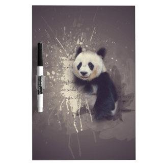 かわいいパンダの抽象芸術 ホワイトボード