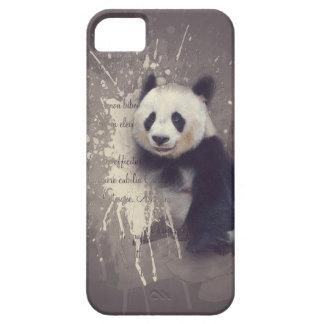 かわいいパンダの抽象芸術 iPhone SE/5/5s ケース
