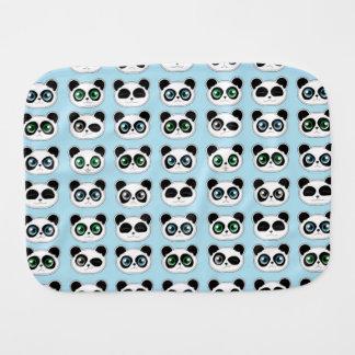 かわいいパンダの表現の青 バープクロス