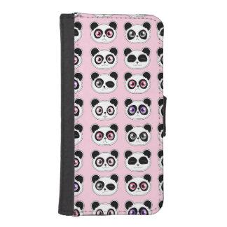 かわいいパンダの表現パターンピンク iPhoneSE/5/5sウォレットケース