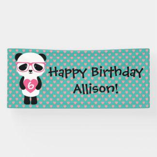 かわいいパンダの誕生日 横断幕
