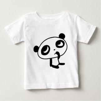 かわいいパンダ ベビーTシャツ