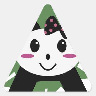 かわいいパンダ 三角形シール