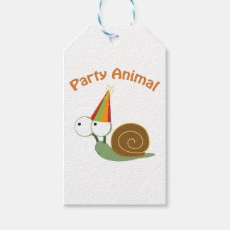 かわいいパーティー好きな人のかたつむり ギフトタグ