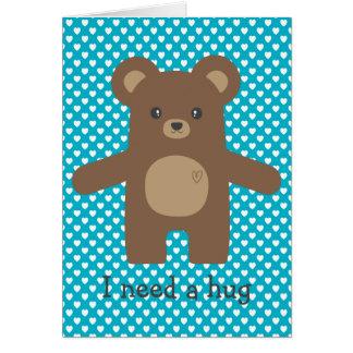 かわいいヒグマの抱擁 カード