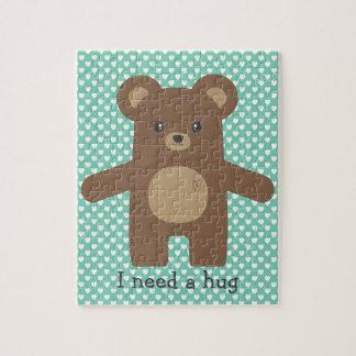 かわいいヒグマの抱擁 ジグソーパズル